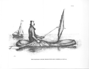 Halkett Boat-Cloak underway (source: Ticknor and Fields)