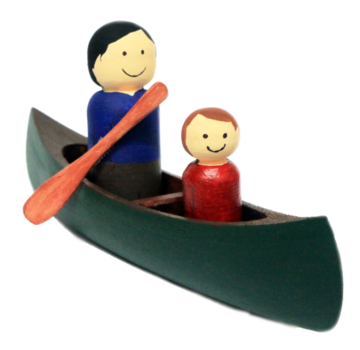 Florence G.: Wooden canadian canoe