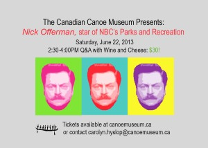 Nick Offerman Q&A poster