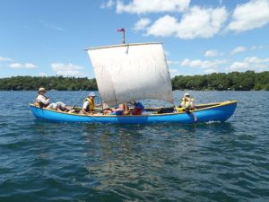 Rivercraft offers overnight canoe sailing trips on the St. Lawrence River