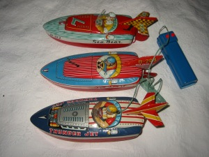 Tony Wells' collection of antique toy tin boats