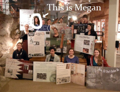 Megan and her class show off the results of a panel design course led by our own John Summers.