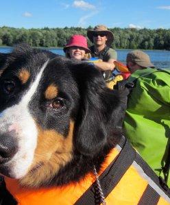 zoe in canoe
