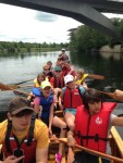 Paddling the North Canoe together is our weekly Friday afternoon tradition.
