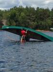 Canoe over canoe rescue
