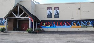 front of the Canoe Museum at 910 Monaghan Road