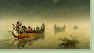Canoes in a Fog, Lake Superior
