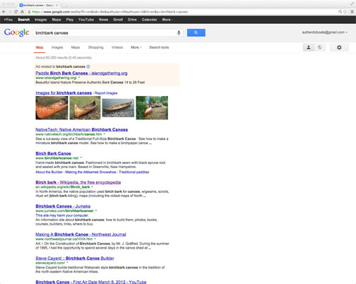google search results birchbark