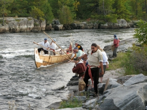 CCM Montreal Canoe at Big Pine Rapids, French River