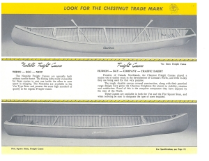 Chestnut Canoe Company 1957 freighter canoes (CCM Collection)
