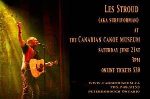 Les Stroud at Canoe Museum June 21
