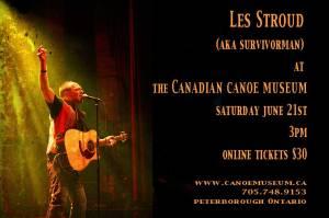 Les Stroud at Canoe Museum June 21