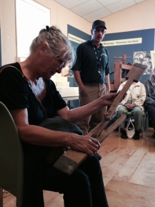 Here's Basia playing 'Guess the Artifact'
