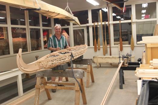 Russ Parker and kayak