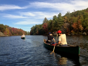 Fall colours in the Kawartha Highlands Provincial Park